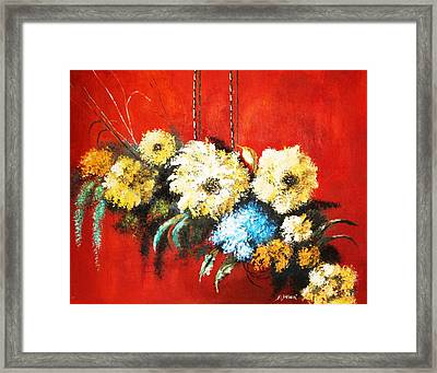 Framed Print featuring the painting Suspended Bouquet by Al Brown