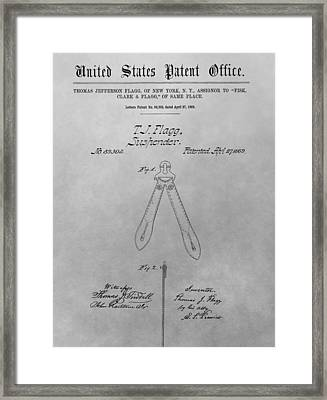Suspender Patent Drawing Framed Print