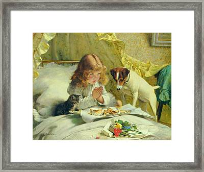 Suspense 1894 By Charles Burton Barber  Framed Print by Movie Poster Prints