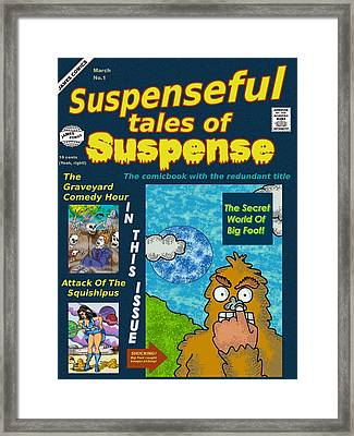 Suspenseful Tales Of Suspense No.1 Framed Print by James Griffin