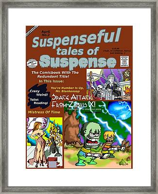 Suspenseful Tales Of Suspense No.2 Framed Print by James Griffin