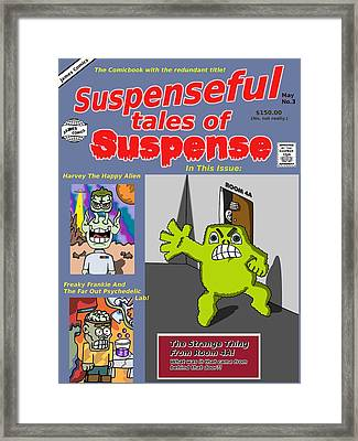 Suspenseful Tales Of Suspense No.3 Framed Print by James Griffin