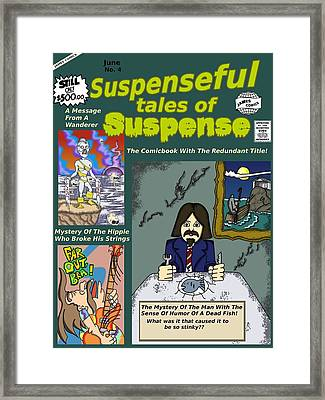 Suspenseful Tales Of Suspense No.4 Framed Print by James Griffin