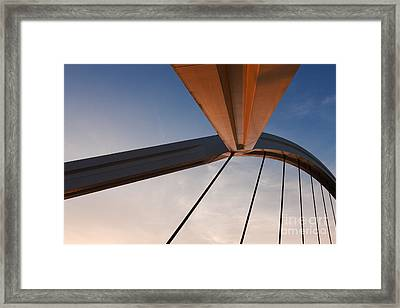 Suspension Bridge Framed Print by Rod McLean