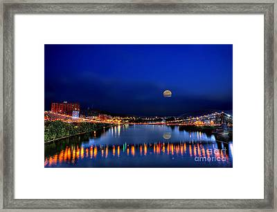 Framed Print featuring the photograph Suspension Bridge by Dan Friend