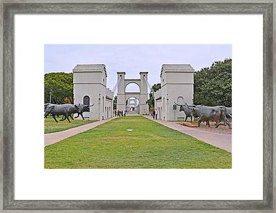 Suspension Bridge Waco Tx Framed Print