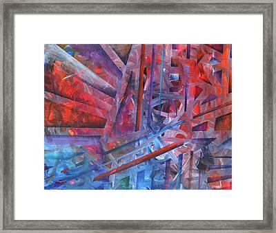 Suspension Resolution Framed Print by Regina Valluzzi