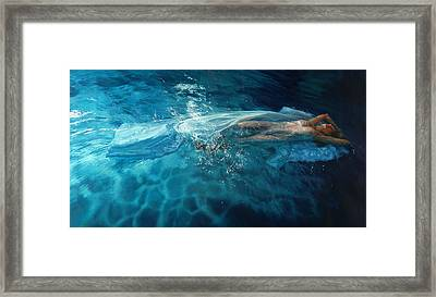 Framed Print featuring the painting Susperia by Mia Tavonatti