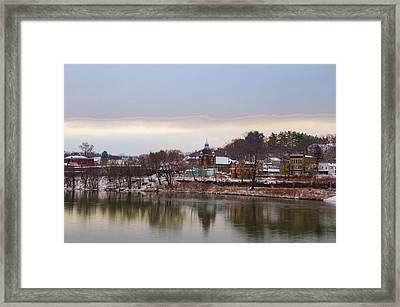 Susquehanna River At Pittston Pa Framed Print