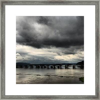 Framed Print featuring the photograph Susquehanna River Bridge by Toni Martsoukos