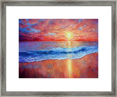 Susurrus At Sunset Framed Print by Marie Green