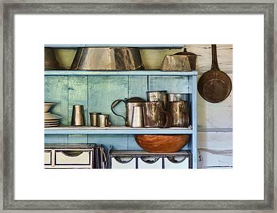 Sutler Store - Shelves - Wares Framed Print by Nikolyn McDonald