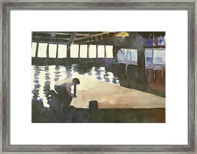 Sutter Sail Loft Framed Print by Hil Hawken