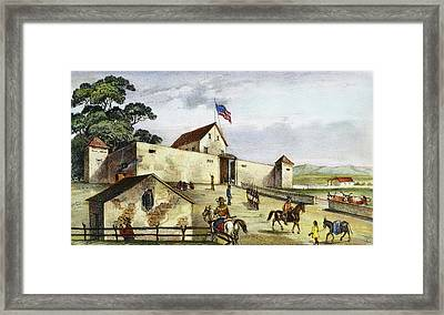 Sutter's Fort, 1849 Framed Print by Granger