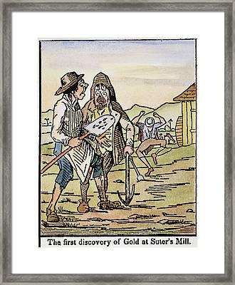 Sutter's Mill Gold, 1848 Framed Print