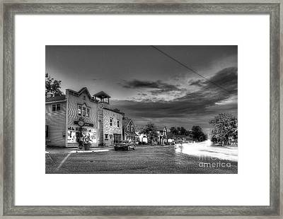 Sutton's Bay In Black And White Framed Print