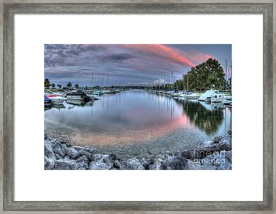 Sutton's Bay Marina Framed Print by Twenty Two North Photography