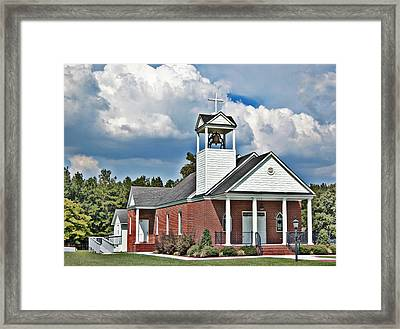 Suttons United Methodist Framed Print by Linda Brown