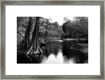Suwannee River Black And White Framed Print