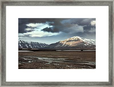 Svalbard Mountains Framed Print by Paul Williams