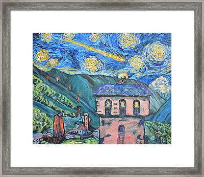 Svaneti Star Watchers I Framed Print