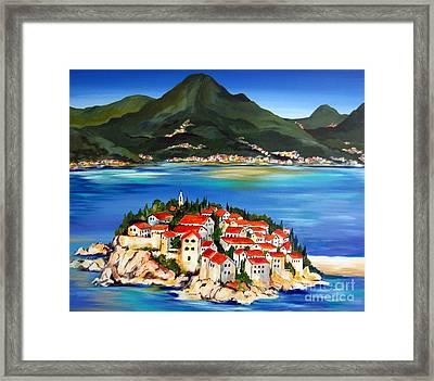 Sveti Stefan Montenegro 2 Framed Print