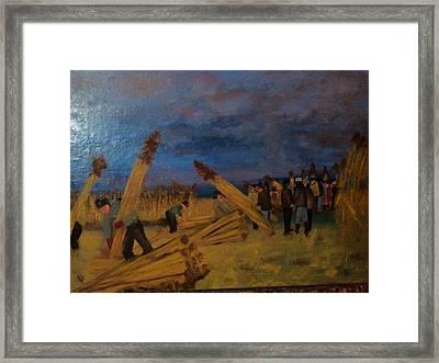 Svetsko Prvenstvo U Secenju Trske Framed Print by Lazar Caran