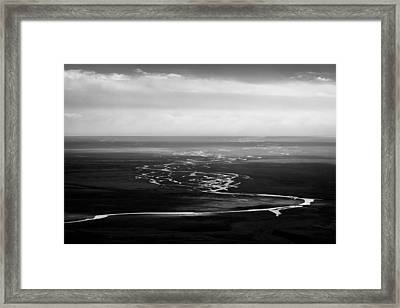 Svinafell Rivulets Framed Print by Dave Bowman