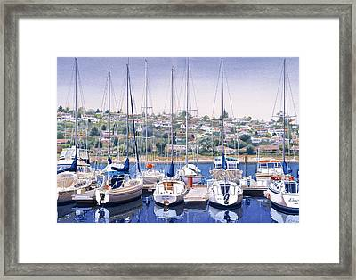 Sw Yacht Club In San Diego Framed Print
