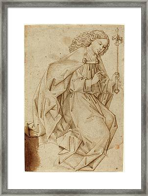 Swabian School, The Angel Of The Annunciation Framed Print by Quint Lox