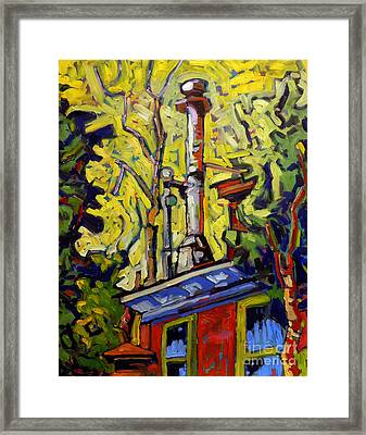 Swagerles Smokestack Up Framed Print