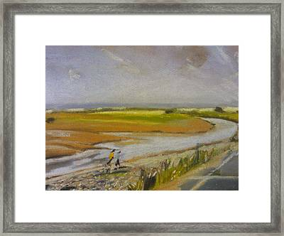 Swalecliffe Brook Framed Print by Paul Mitchell