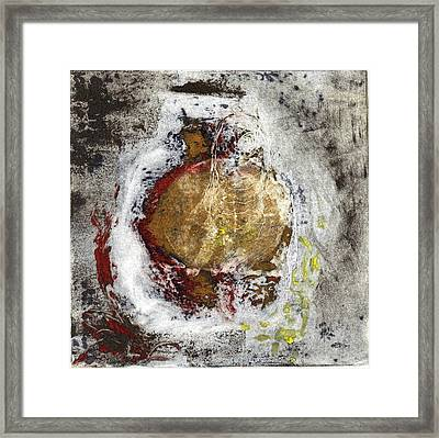 Framed Print featuring the painting Swallowed by Lesley Fletcher