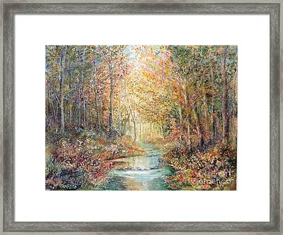 Swallows Creek Framed Print by Marilyn Young