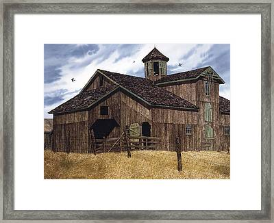 Swallow's Play Framed Print by Tom Wooldridge