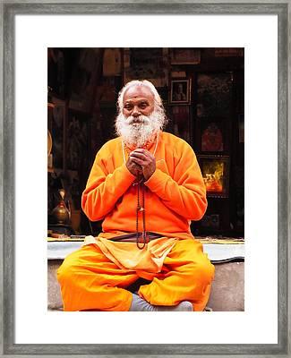 Swami Sundaranand At Tapovan Kutir 4 Framed Print