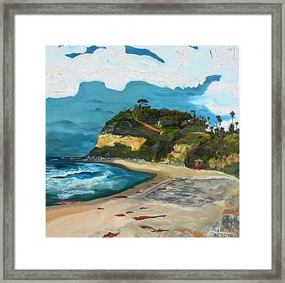 Swami's Beach Framed Print by Joseph Demaree