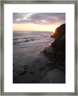 Swami's Sunset Framed Print by Mark Barclay