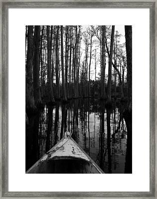 Swamp Boat Framed Print