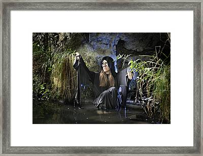 Swamp Hag In Blue Framed Print