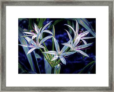 Framed Print featuring the photograph Swamp Lilies by Steven Sparks