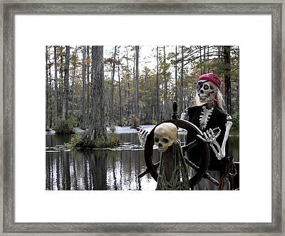 Swamp Pirate Framed Print