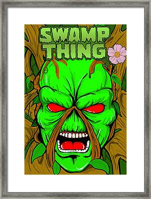 Swamp Thing Framed Print by Gary Niles