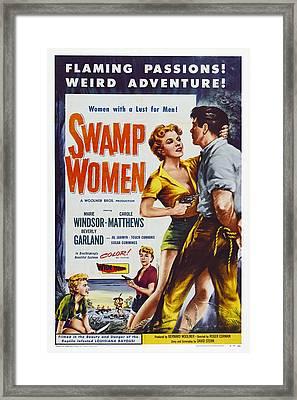 Swamp Women, Us Poster Art, 1956 Framed Print