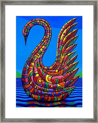 Swan Abstract Framed Print by Chris Boone