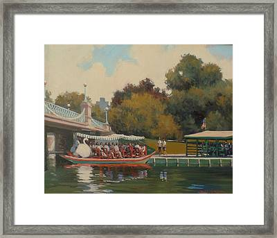Swan Boat Finale Framed Print by Dianne Panarelli Miller