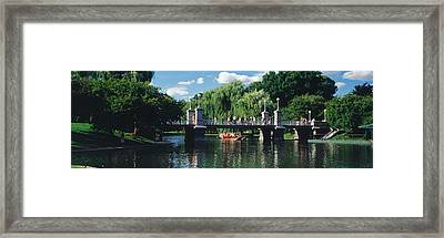 Swan Boat In The Pond At Boston Public Framed Print by Panoramic Images