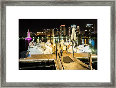 Swan Boat Ride Framed Print by Clay Townsend