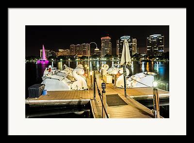 Swan Boat Ride Framed Prints
