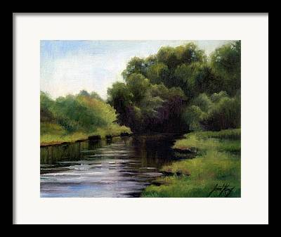 Great Place To Fish Framed Prints